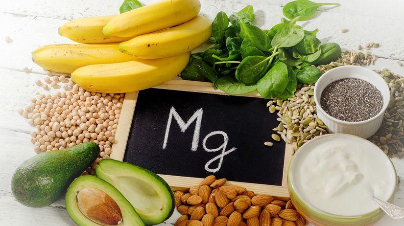 magnézium, horčík, banán, mandle, mak