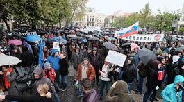 demonštrácia, pochod, protikorupčný pochod,