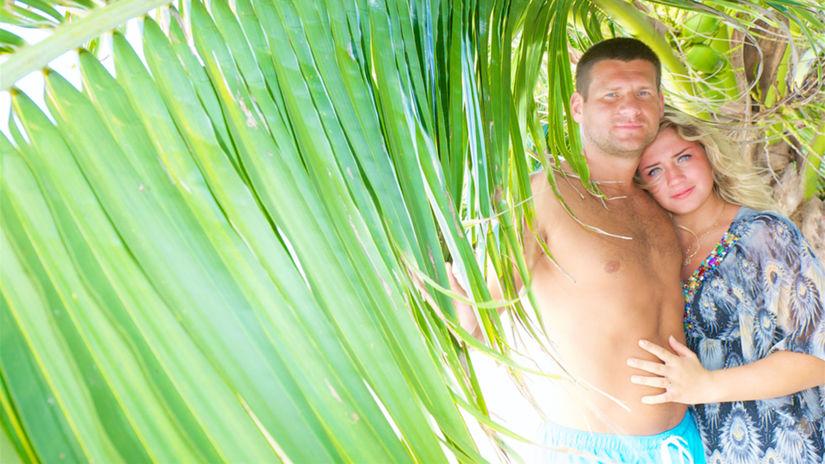 dovolenka, exotika, cestovanie, palma, dvojica,...