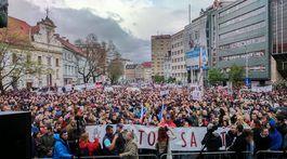 protikorupčný pochod, demonštrácia, protest,