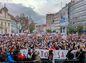 Protikorupčný pochod na Námestí SNP v Bratislave.
