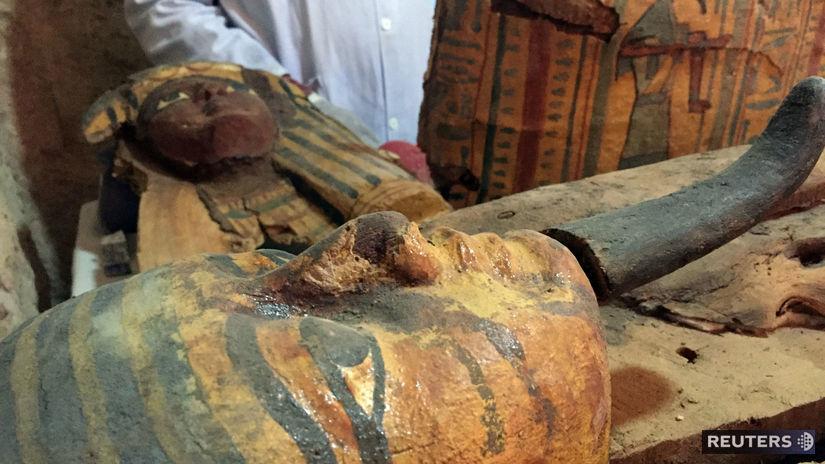 Egypt, Luxor, hrobka, sarkofág