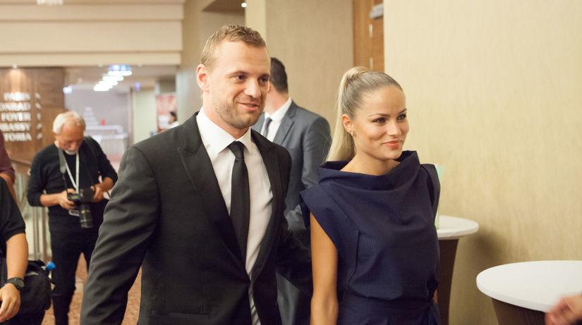 Marián Gáborík a jeho snúbenica Ivana...