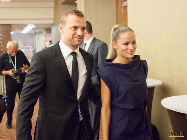Marián Gáborík a jeho snúbenica Ivana Surovcová