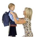 matka, dieťa, školák, prvák, škola, žiak
