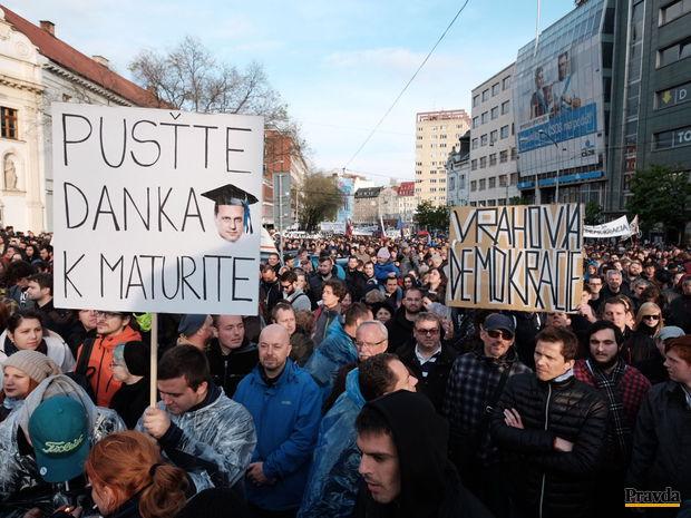 Protest proti korupcii.