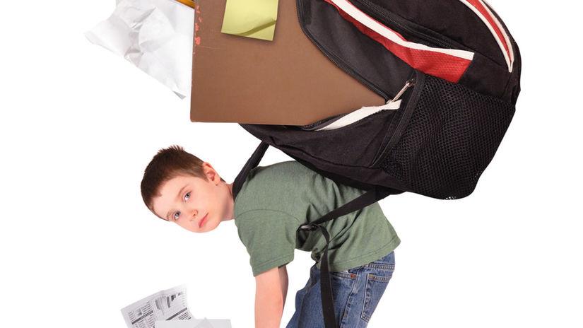 žiak, prvák, aktovka, škloská taška, batoh,...