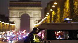 Champs-Élysées, streľba na Champs-Élysées, polícia,
