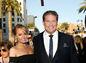 David Hasselhoff  a Hayley Roberts na premiére filmu Strážcovia galaxie 2 v  Hollywoode.