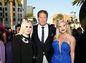 David Hasselhoff s dcérami  Hayley Hasselhoff (vľavo) a Taylor Ann na premiére filmu Strážcovia galaxie 2 v  Hollywoode.