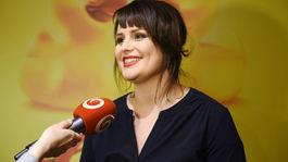Herečka Petra Polnišová odpovedala na otázky novinárov.