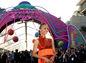 Zoe Saldana na premiére filmu Strážcovia galaxie 2 v  Hollywoode.