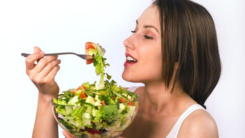 zelenina, šalát, jedlo, žena