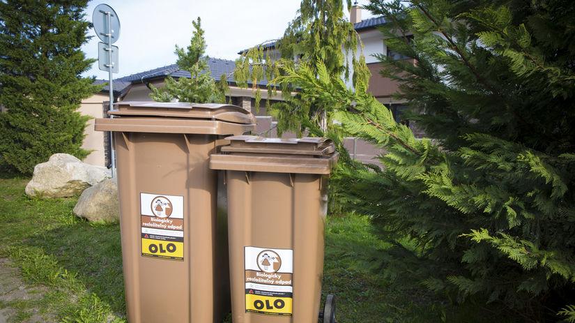 hnede kontajnery, odpad
