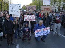 maďarsko, protest, demonštrácia,