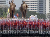 Kim Ir–sen, Kim Čong–il, prehliadka, kldr, severna korea