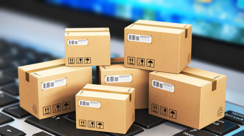 balíky, eshop, online nakupovanie