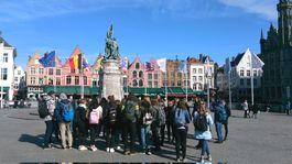 Bruggy, Belgicko, mesto námestie