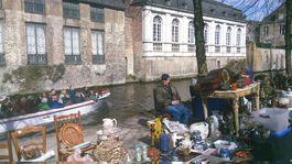 Bruggy, Belgicko, predavač, predajca,