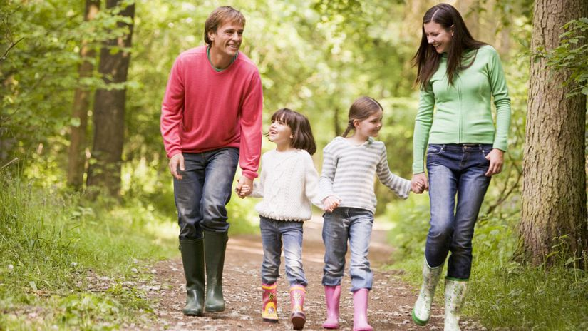 rodina, les, voľný čas, vychádzka, túra,...