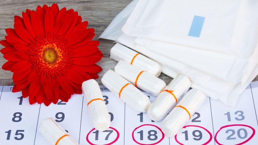 tampón, menštruácia, kalendár