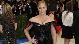 Komička Amy Schumer si obliekla šaty Zac Posen.