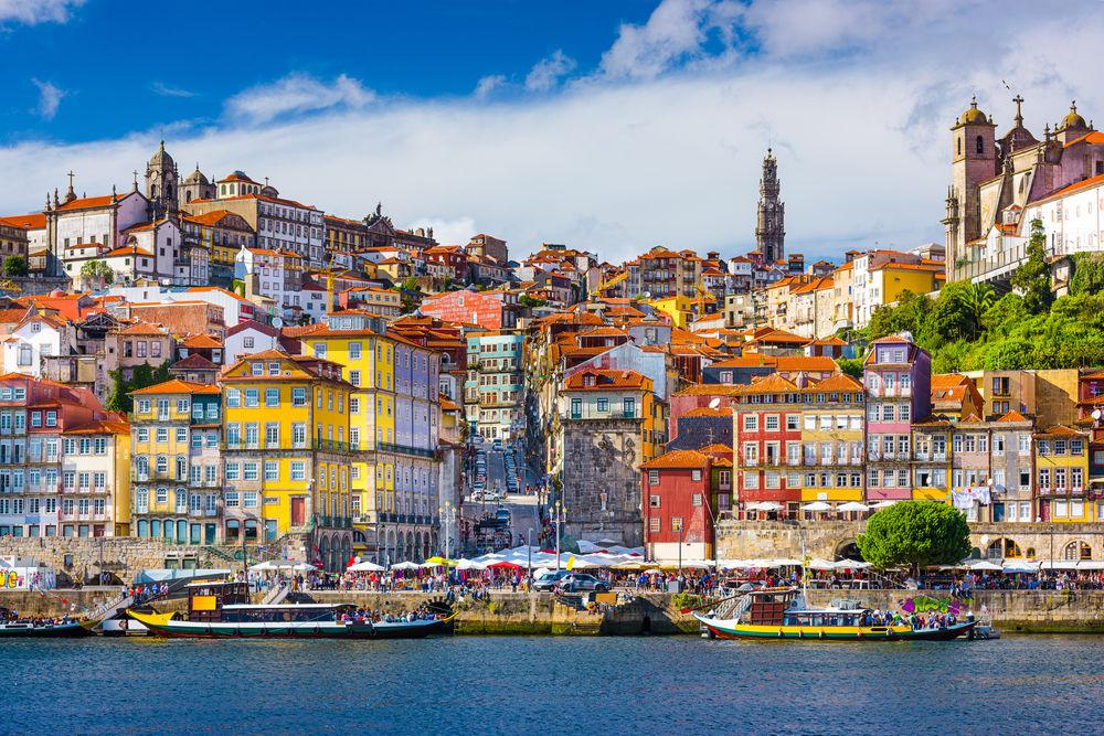 Porto, Portugalsko, mesto, prístav, more