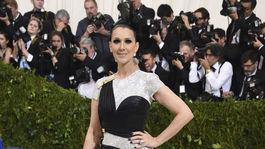 Speváčka Celine Dion v kreácii Atelier Versace.