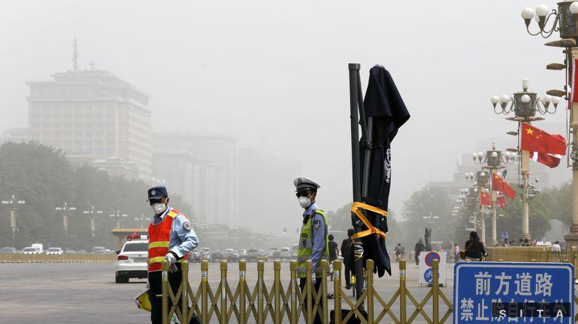 Čína, piesočná búrka