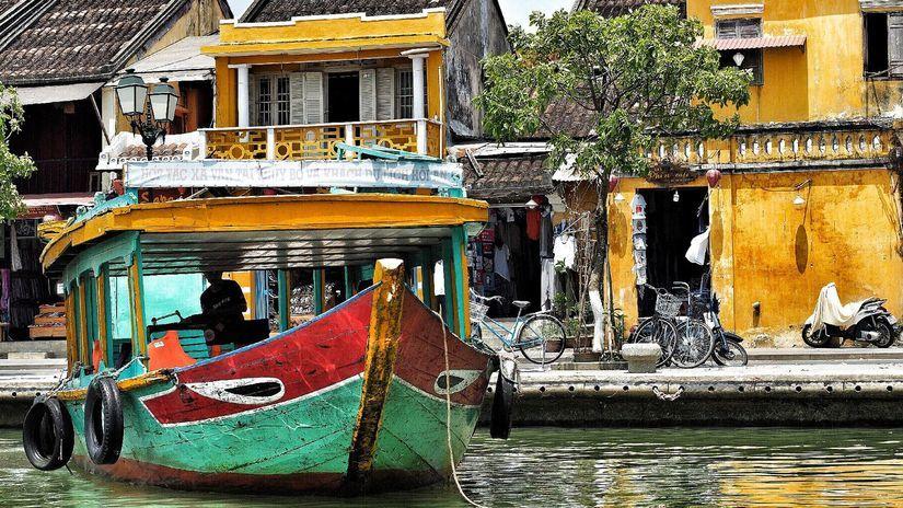 Vietnam, loď,