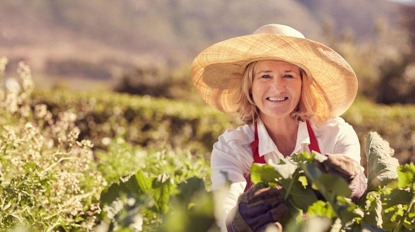 žena, záhrada, práca, kvety