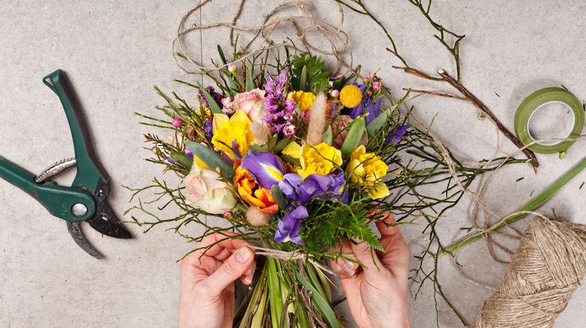 rezané kvety, kytica