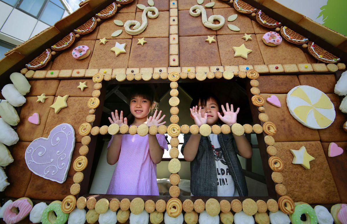 perníkový dom, perník, chalúpka, deti, Japonsko