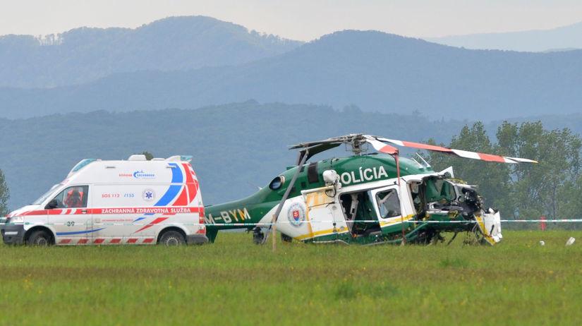 pád policajného vrtuľníka, prešov,...