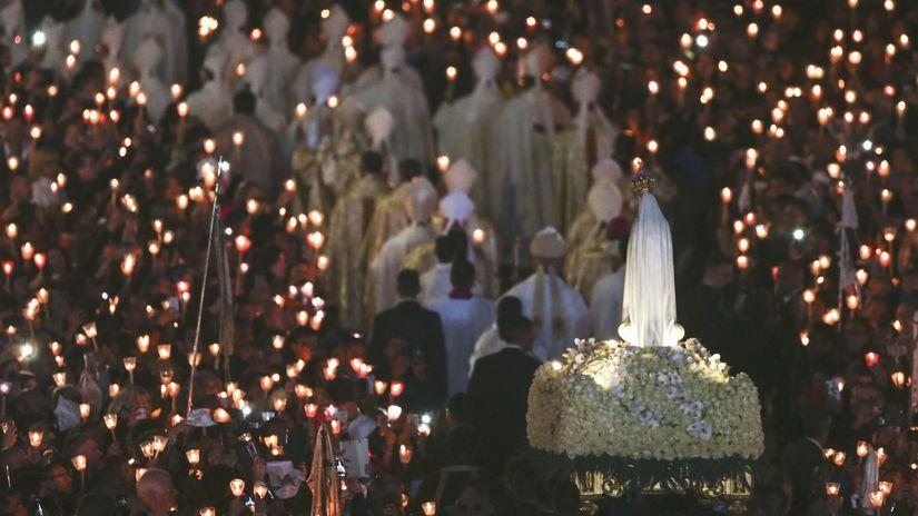 Fatima, Portugalsko, socha, Panna Mária, púť