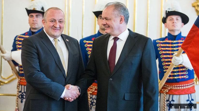 PREZIDENT: Prijatie prezidenta Gruzínska