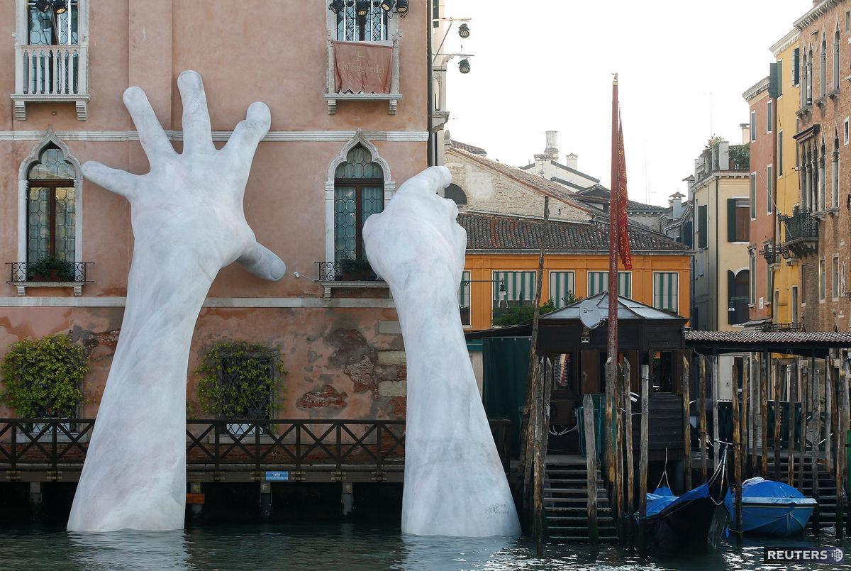 Taliansko, ruky, umenie, socha