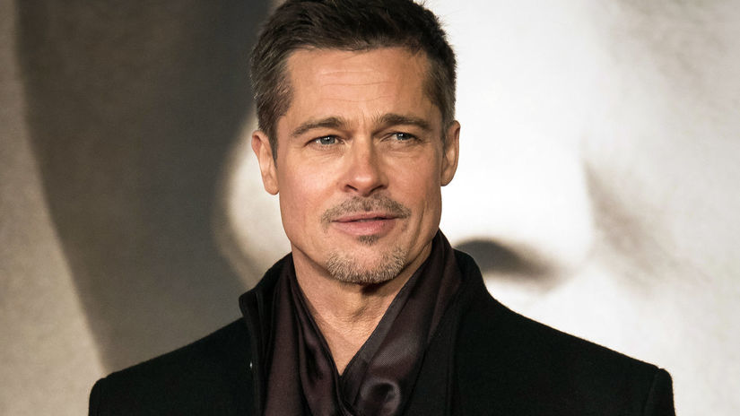 Herec Brad Pitt na archívnom zábere.