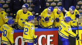 Švédsko, hokej, radosť