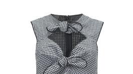 Ginghamový vzor je opäť populárny - tričko Pinko - cena v predaji.
