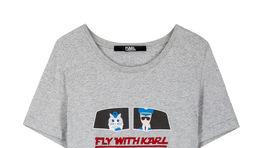 Tričko s nápisom Karl Lagerfeld - info o cene v predaji.