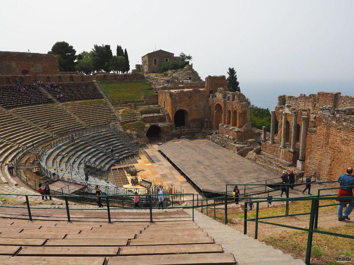 Taormina, Sicília, Taliansko, amfiteáter