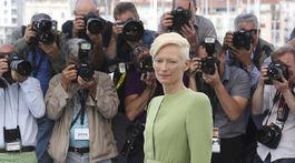 Herečka Tilda Swinton predstavila v Cannes novinku Okja.
