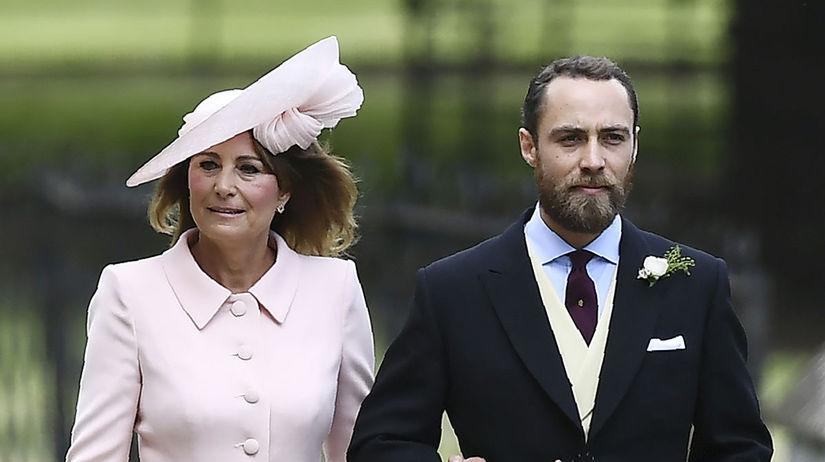 Carole Middleton a jej syn James
