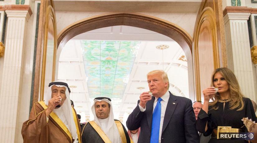 melania trump, donald trump, saudská arábia,