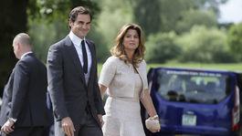 Roger Federer a jeho manželka Mirka