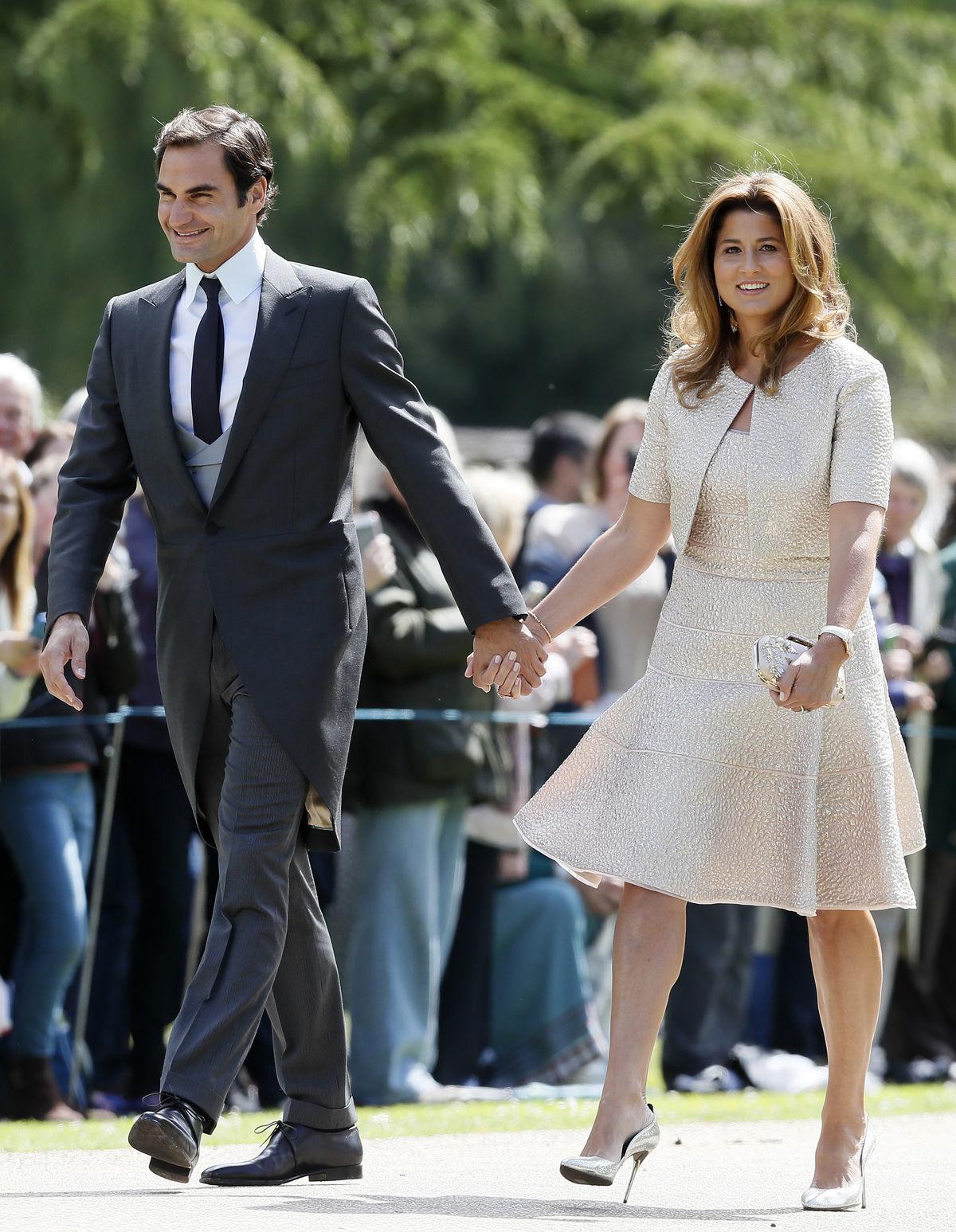 Tenista Roger Federer a jeho manželka Mirka...