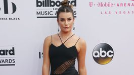 Herečka Lea Michele prišla v šatách David Koma.