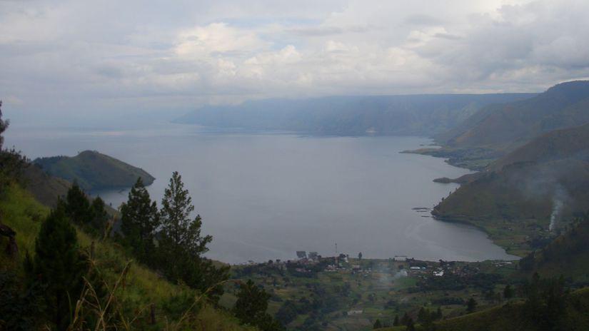 sopka, jazero, Toba