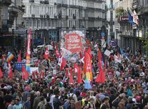 demonštrácia, protest, trump,